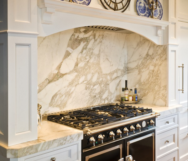 Past Basket Design kitchen in Elgin, Illinois featuring Calacatta marble.